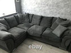 Grey Corner Sofa Bed Left Facing Grey Cord- Excellent Condition