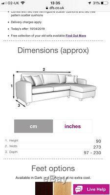 Grey Corner Sofa Bed With Storage (Lydia DFS)