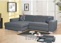 Grey Corner Sofa-Bed excellent condition