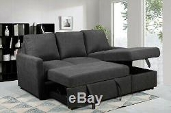 Grey Sofa Bed Corner sofa can be LHF/RHF Chaise, FREE DELIVERY Good Quality