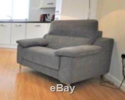 Grey corner sofa bed and chair