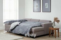 Habitat Ava Corner Fabric Sofa Bed Light Grey