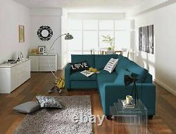 Habitat Seattle Left Corner Fabric Sofa Bed Blue