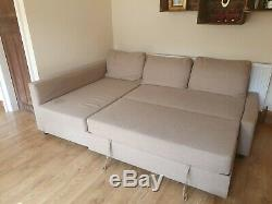 IKEA FRIHETEN Corner Sofa-Bed with Storage Grey, Used Condition. RRP £479