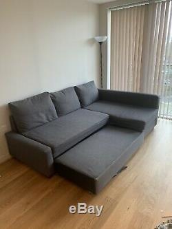 IKEA FRIHETEN Corner Sofa Bed with storage Dark Grey. In very good condition