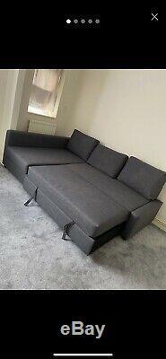 IKEA FRIHETEN Corner sofa-bed with storage Dark Grey