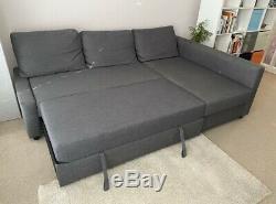 IKEA FRIHETEN Corner sofa-bed with storage Dark Grey Excellent Condition