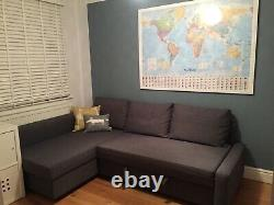 IKEA FRIHETEN Corner sofa-bed with storage -Dark Grey-reversible layout- RRP £479