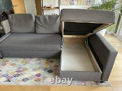 IKEA FRIHETEN Corner sofa-bed with storage Skiftebo Dark Grey