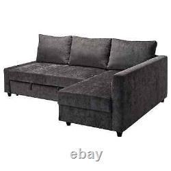 IKEA FRIHETEN Corner sofa-bed with storage, dark grey