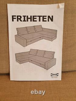 IKEA FRIHETEN beige corner sofa-bed with storage. Used. Good condition