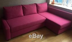 IKEA Friheten Hot Pink Corner Sofa Bed-IMMACULATE LOOKS LIKE NEW