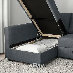 IKEA Friheten corner sofa-bed with storage Skiftebo Dark Grey, good condition