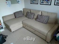 IKEA friheten Corner Sofa bed with storage Beige