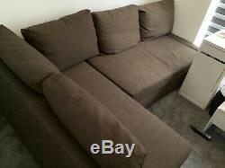 Ikea Brown Friheten Corner Sofa Bed with storage
