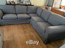 Ikea Ektorp 4 Seat Corner Sofa Bed Settee Nordvalla Dark Grey
