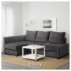 Ikea FRIHETEN dark grey, corner sofa-bed with storage