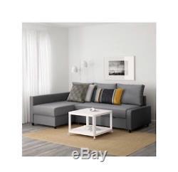 Ikea Friheten Corner Sofa Bed in Grey Includes Storage