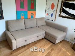 Ikea Friheten corner sofa bed Hyllie Beige Sofabed Storage 3-seater