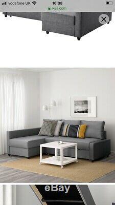 Ikea Grey Corner Sofa Bed Friheten With Storage