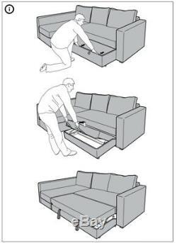 Ikea corner sofa bed with storage Manstad