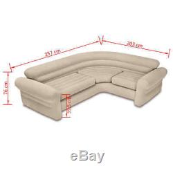 Intex Inflatable Corner Sofa Bed Couch Furniture Lounge Chair PVC 257x203x76 cm