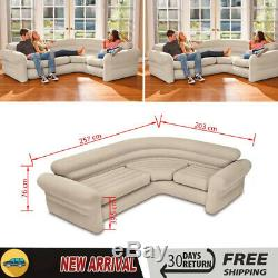 Intex Inflatable Corner Sofa Couch Bed Furniture Lounge Chair PVC Waterproof UK