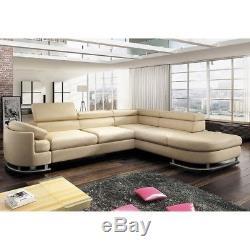 Italian Style Modern Corner Sofa Bed Uberto Grey, Black, White, ETC. SPRING SALE
