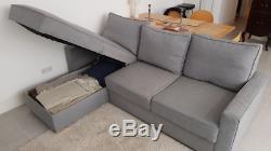 John Lewis Corner sofa-bed with storage- like IKEA FRIHETEN Dark Grey