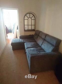 John Lewis Suede Corner Sofa Bed With Storage
