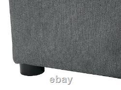 Kirsten Grey 4 Seater Corner Sofa Bed With Storage, Bonell Springs, Universal