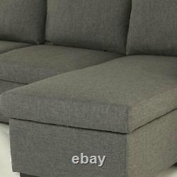 L Corner Sofa Bed Storage Shaped 3 Seater Modern Luxury Design