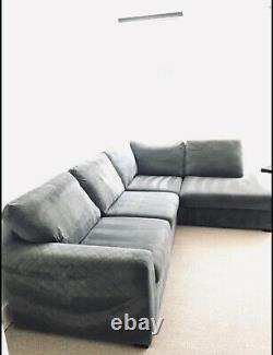 Larfe Gray Corner Sofa Bed (DFS Astraire)