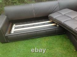 Large 5 Seat Chaise Style Leather Sofa Bed Corner Unit Possible Delivery Options