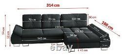 Large Como Corner Sofa Bed, L shape sofa bed / Different range of colours