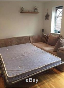 Large Grey Corner Sofa With Double Sofa Bed