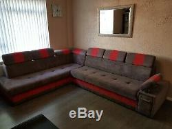 Large corner sofa bed