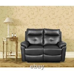 Leather 2 Seat Sofa Recliner Set Corner Couch Suite Settee Lazy Boy Sofa Bed