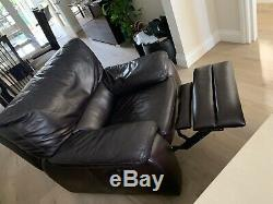 Leather Corner Bed Sofa with matching recliner chair Used