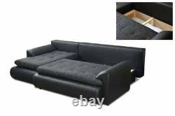 Left Hand Side Corner Sofa Bed in Grey colour with one storage