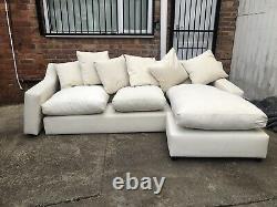 Loaf Cloud Corner Sofa Rrp 2770. Ex display needs bottom Cushion repla