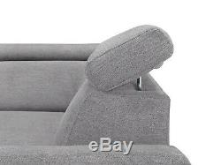 Loft Grey 5 Seater Left Corner Sofa Bed With Storage, Wave Springs, Double Bed