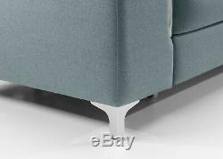 Luxurious Alova Designer White Leather Corner Sofa Bed SALE