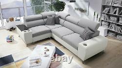 Luxurious Modivo II Designer Leather Corner Sofa Bed