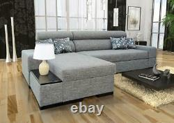 Luxurious Orfeusz Mini Designer Leather Corner Sofa Bed