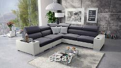 Luxurious PERSEO III Designer Leather Corner Sofa Bed