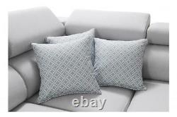 Luxurious PERSEO VIII Designer Leather Corner Sofa Bed