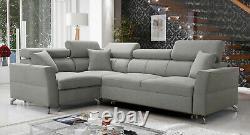 Luxurious Veneto II Designer Leather Corner Sofa Bed