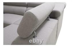 Luxurious Veneto X Designer Leather Corner Sofa Bed