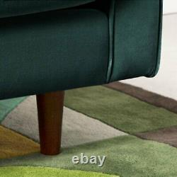 Luxury Velvet Sofa Bed With Wood Leg Living Room Settee Armchair Couches Green
